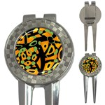 Abstract animal print 3-in-1 Golf Divots Front