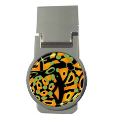 Abstract animal print Money Clips (Round)
