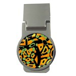 Abstract animal print Money Clips (Round)  Front