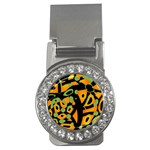 Abstract animal print Money Clips (CZ)  Front