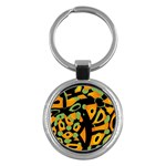 Abstract animal print Key Chains (Round)  Front