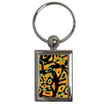 Abstract animal print Key Chains (Rectangle)  Front