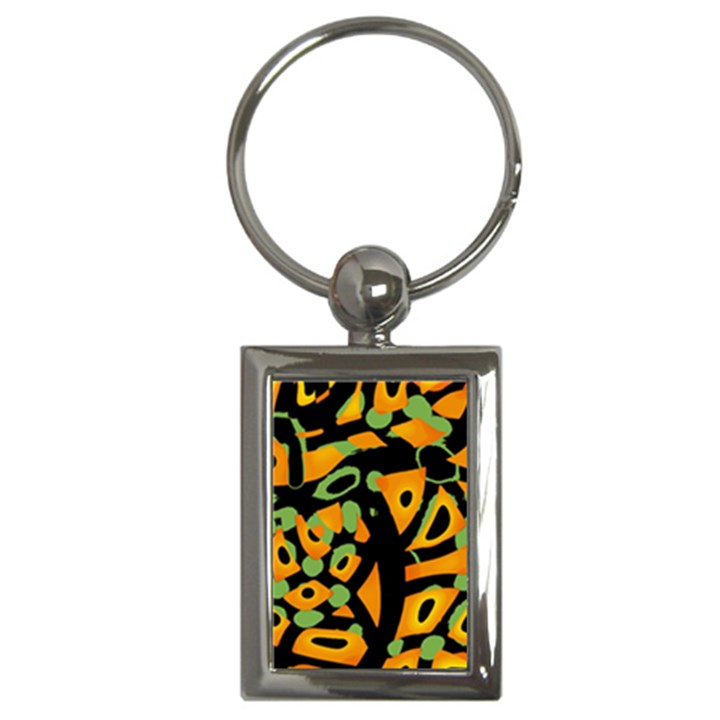 Abstract animal print Key Chains (Rectangle)