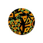 Abstract animal print Rubber Coaster (Round)  Front