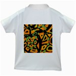 Abstract animal print Kids White T-Shirts Back