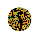 Abstract animal print Magnet 3  (Round) Front