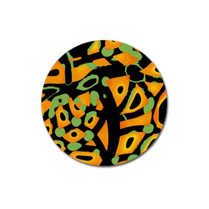 Abstract animal print Magnet 3  (Round)