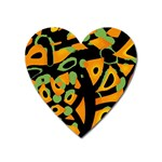 Abstract animal print Heart Magnet Front