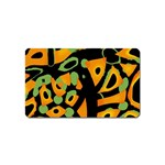 Abstract animal print Magnet (Name Card) Front