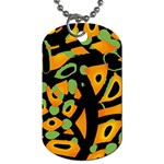 Abstract animal print Dog Tag (One Side) Front