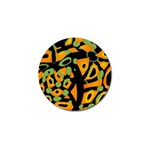 Abstract animal print Golf Ball Marker (4 pack) Front