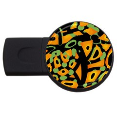 Abstract animal print USB Flash Drive Round (2 GB)