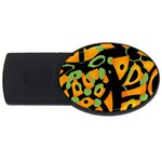 Abstract animal print USB Flash Drive Oval (1 GB)  Front