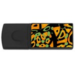 Abstract animal print USB Flash Drive Rectangular (1 GB)  Front