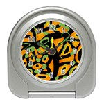 Abstract animal print Travel Alarm Clocks Front