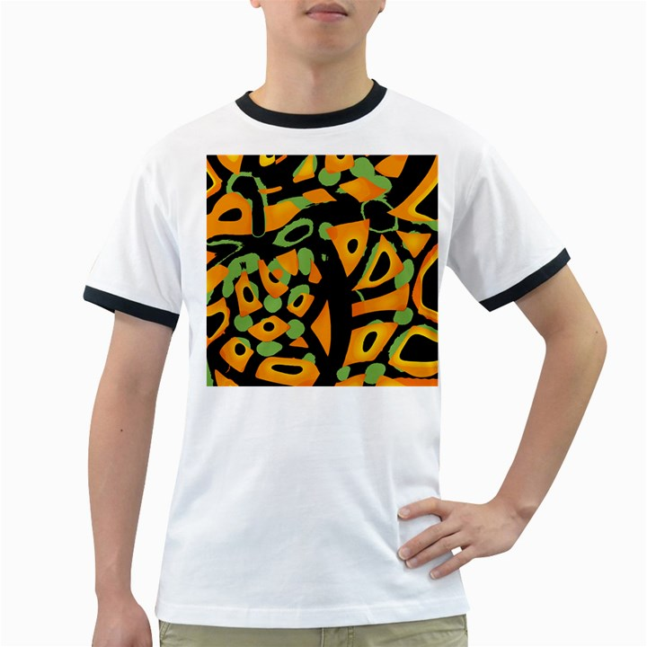 Abstract animal print Ringer T-Shirts