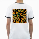 Abstract animal print Ringer T-Shirts Back
