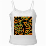 Abstract animal print Ladies Camisoles Front