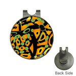 Abstract animal print Hat Clips with Golf Markers Front