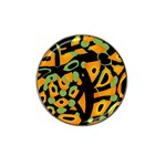 Abstract animal print Hat Clip Ball Marker (4 pack) Front
