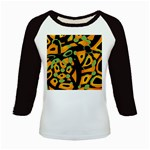 Abstract animal print Kids Baseball Jerseys Front