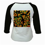 Abstract animal print Kids Baseball Jerseys Back