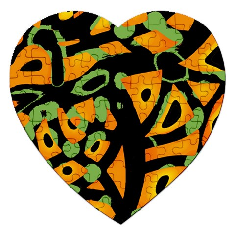 Abstract animal print Jigsaw Puzzle (Heart)