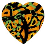 Abstract animal print Jigsaw Puzzle (Heart) Front