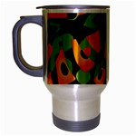 Abstract animal print Travel Mug (Silver Gray) Left