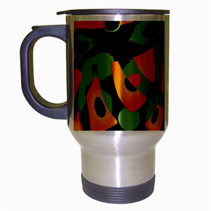 Abstract animal print Travel Mug (Silver Gray)