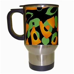 Abstract animal print Travel Mugs (White)