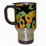 Abstract animal print Travel Mugs (White) Left