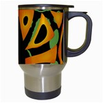 Abstract animal print Travel Mugs (White) Right