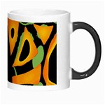 Abstract animal print Morph Mugs Right