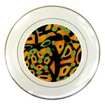 Abstract animal print Porcelain Plates Front