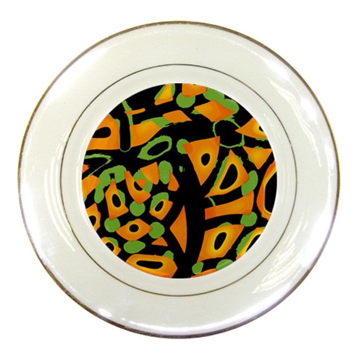 Abstract animal print Porcelain Plates