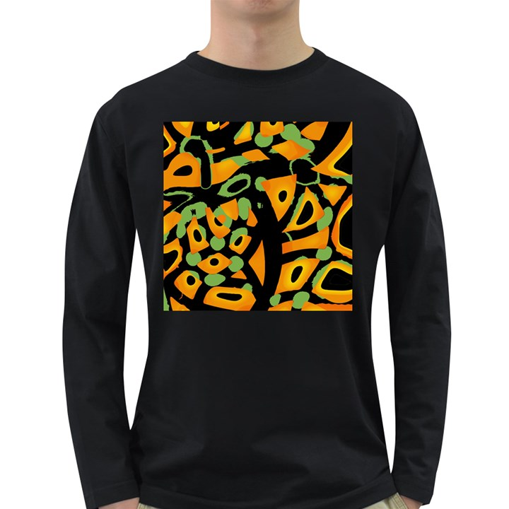Abstract animal print Long Sleeve Dark T-Shirts