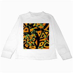 Abstract animal print Kids Long Sleeve T-Shirts