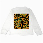 Abstract animal print Kids Long Sleeve T-Shirts Back