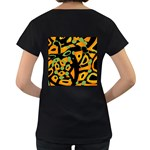 Abstract animal print Women s Loose-Fit T-Shirt (Black) Back