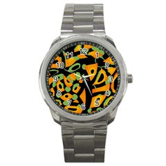 Abstract animal print Sport Metal Watch