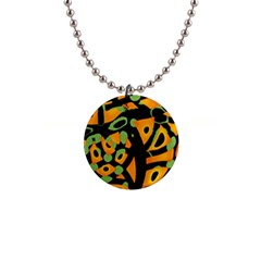Abstract animal print Button Necklaces