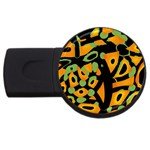 Abstract animal print USB Flash Drive Round (4 GB)  Front