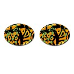 Abstract animal print Cufflinks (Oval) Front