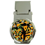 Abstract animal print Money Clip Watches Front