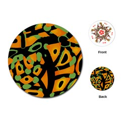 Abstract animal print Playing Cards (Round)