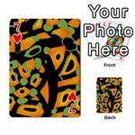 Abstract animal print Playing Cards 54 Designs  Front - Heart7