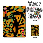 Abstract animal print Playing Cards 54 Designs  Front - Diamond9