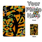 Abstract animal print Playing Cards 54 Designs  Front - Club3