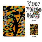Abstract animal print Playing Cards 54 Designs  Front - Joker1